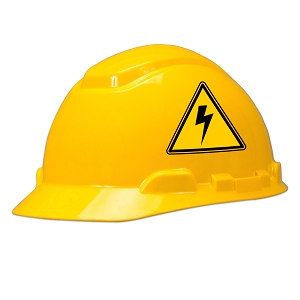 High Voltage Hard Hat Helmet Sticker